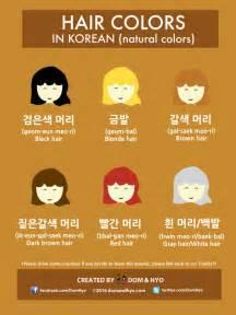 colors in korean vocabulary hair colors in korean dom hyo