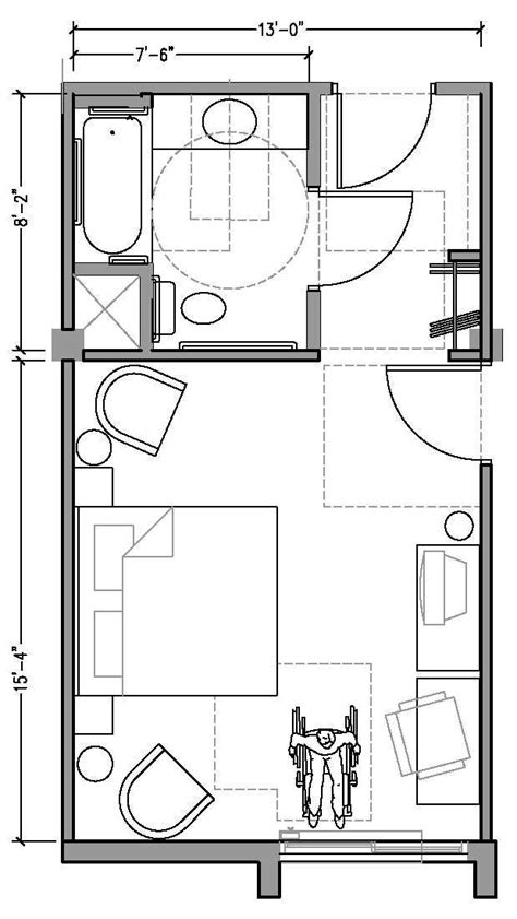 hotel room floor plan hotel room floor plan dimensions plan1aaccessiblejpg