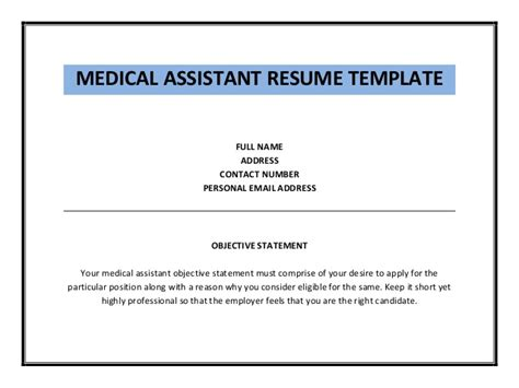 medical assistant resume with no experience shalomhouse us