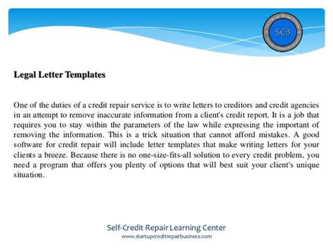 Credit Repair Templates Free software for credit repair why using it is so important