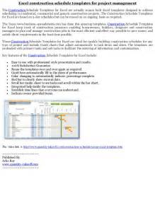 construction project management templates excel excel construction schedule templates for project management
