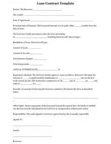 Blank Loan Agreement Template by Free Printable Blank Loan Agreement Template Sle With