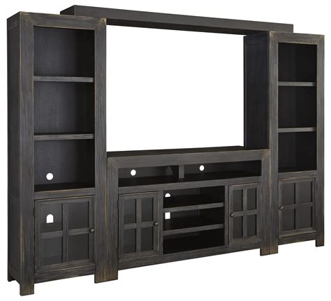 piers tv entertainment wall unit w large tv stand bridge and