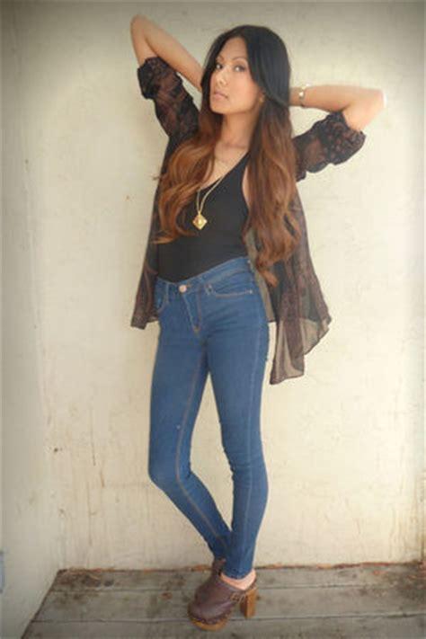 ma fira blouse denim black forever 21 blouses black forever 21 tops blue bdg