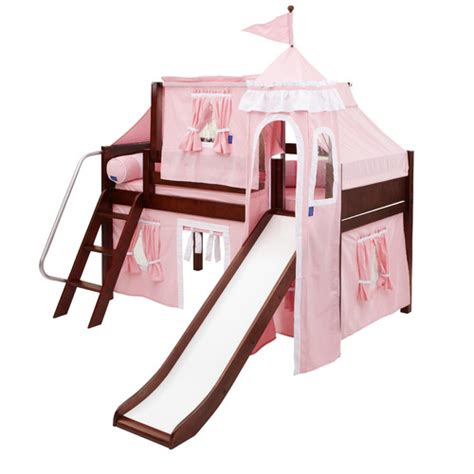 walmart loft bed with slide girls princess castle twin loft bed with slide white