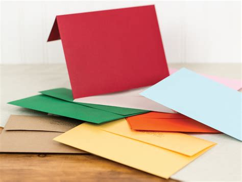 colored envelopes flat folded shaped cards black river imaging