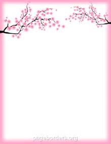 cherry blossom template printable cherry blossom border free gif jpg pdf and