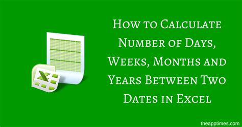 calculator number of days calculate number of days between two dates in excel
