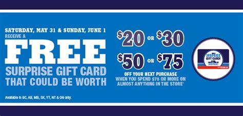 Shoppers Drug Mart Gift Card Promotion - shoppers drug mart canada surprise gift card promotion spend 75 get a free