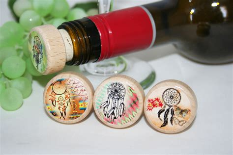 Souvenir Wine Stopper indian themed wine stopper aztec wine stopper wine stopper favor hobknobin