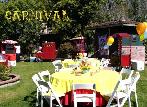 backyard cing party ideas carnival themed party for birthday parties