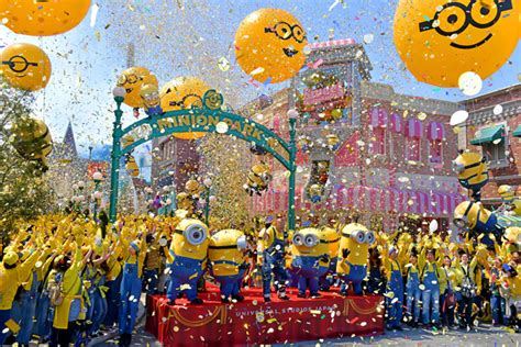 theme park osaka minions go from film favorites to theme park stars at