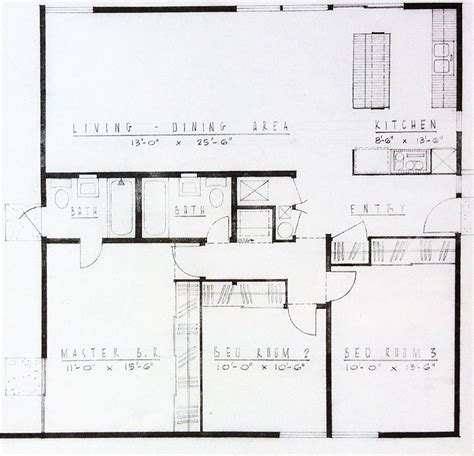 the basic floor plan of an mid century tract homes