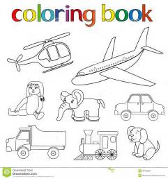 toys coloring book stock vector image 39766698
