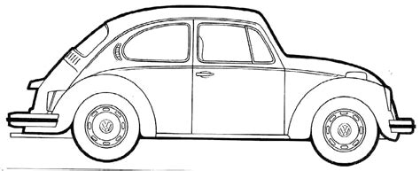 volkswagen drawing vw beetle coloring pages 07 books worth reading