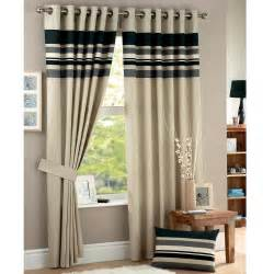 Double Wide Drapes Harvard Modern Stripe Design Curtains Natural Charcoal