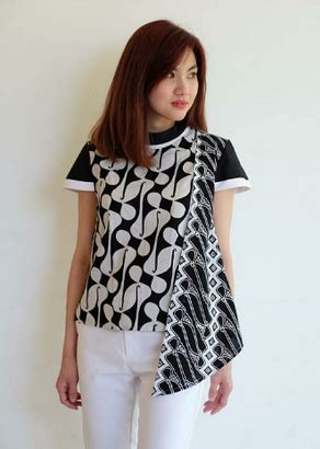 Baju Atasan Batik Wanita Cantik 4 15 ide baju atasan batik desain cantik model terbaru