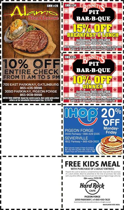 printable restaurant coupons for pigeon forge tn free coupons for pigeon forge tn zizzi coupons uk