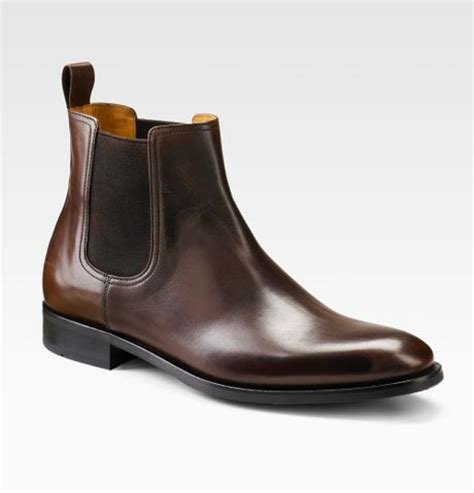 saks fifth avenue chelsea boots in brown for lyst