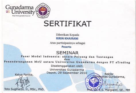 kantongajaibdoraemon sertifikat seminar workshop