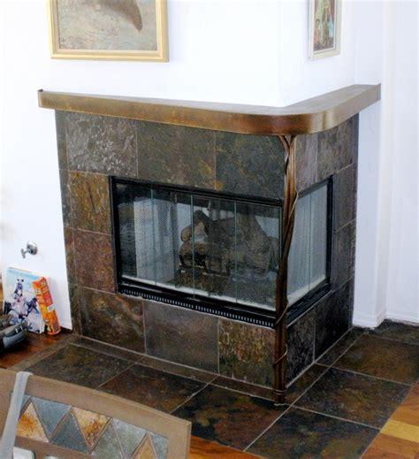 custom steel mantle contemporary indoor fireplaces