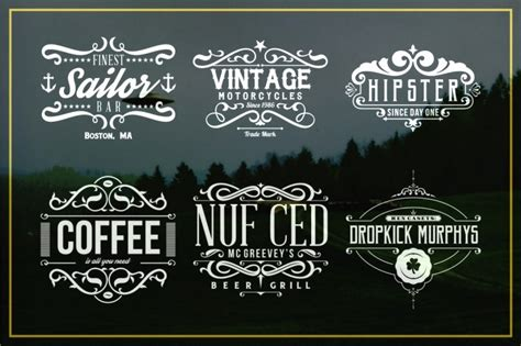 vintage style logo design photoshop only best sellers the mega bundle with 34 items from 10
