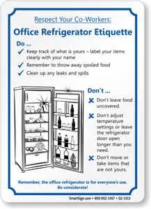 Office Kitchen Etiquette Office Courtesy Signs Office Etiquette Signs