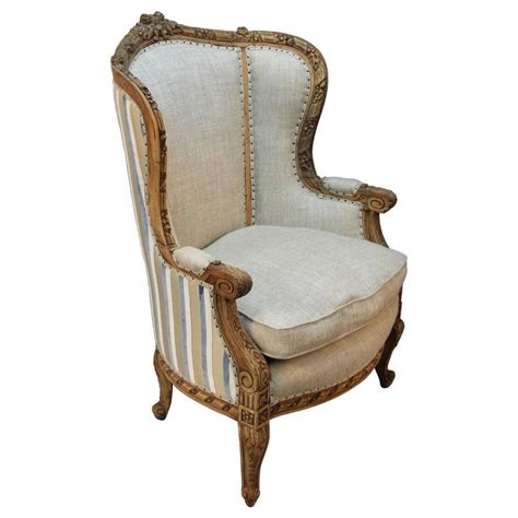 bergere armchairs french louis xv style carved wingback bergere armchair