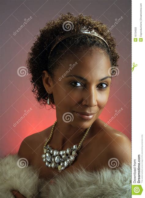 pretty older black lady beautiful mature black woman headshot 2 stock photo