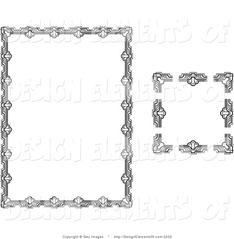 design elements for loading in vector from stock 25 eps vector illustration of a stationery border with ornate