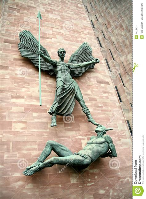 angel michael versus lucifer stock image image 4418421
