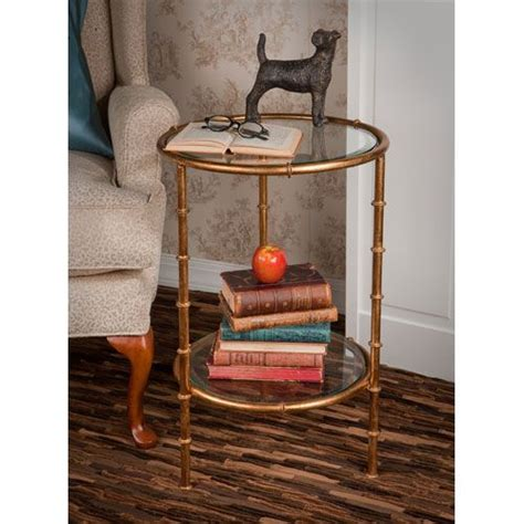 antique gold bamboo float accent table end tables designs antique gold bamboo end tables dessau