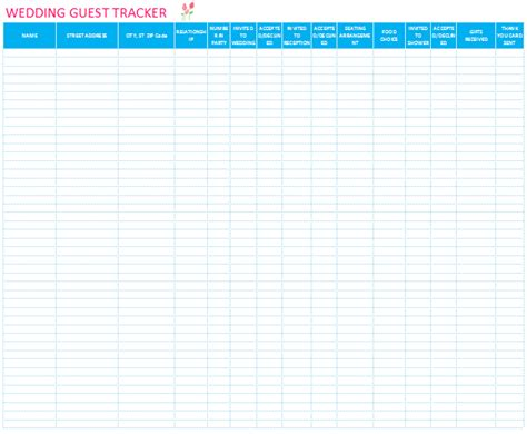excel template for wedding guest list printable wedding guest list template for word and excel 174