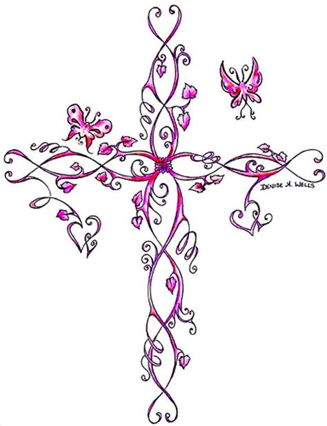 cute girly cross tattoos varity cross designs find yours today