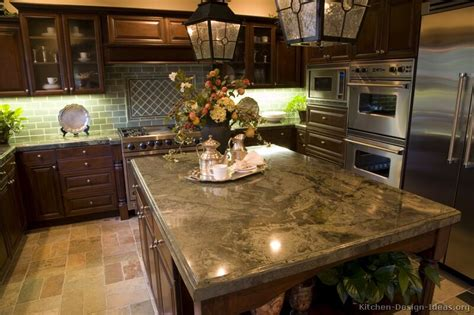 Kitchen Sink Backsplash Ideas by Pictures Of Kitchens Traditional Dark Wood Kitchens
