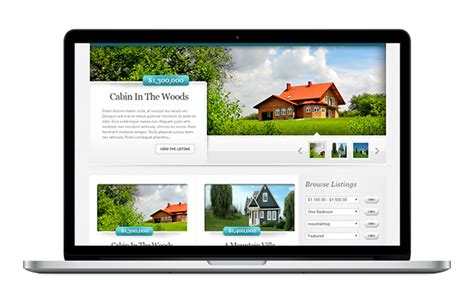 home design websites uk real estate agent website design
