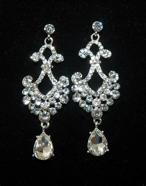 Strass Ohrringe Hochzeit by Bridal Chandelier Rhinestone Earrings Bridal Wedding