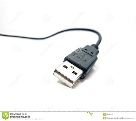 black and white usb cable stock photo image of cable