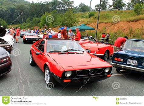 Lancia Sports Car Two Italian Lancia Sports Cars At Angle Back To