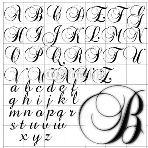 tattoo fonts running writing fancy cursive letter t abc alphabet background brock