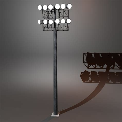 Stadium Lighting Fixtures Stadium Lighting 3d C4d