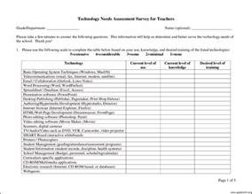 needs analysis questions template technology needs assessment template template update234