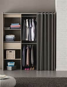 Armoire Chicago Kit Placard Extensible Rideau Chicago Chene Brosse