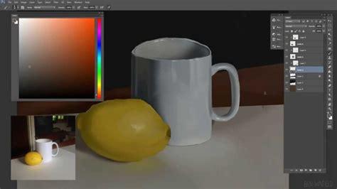 digital still digital painting still of lemon and mug