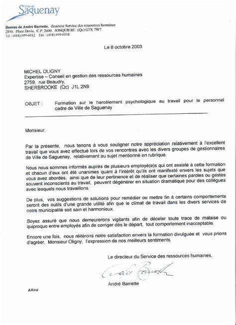 Lettre De Recommandation Ressources Humaines Michel Oligny Expertise Conseil Inc