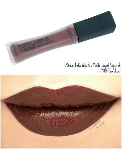 L Oreal Infallible Pro l oreal infallible pro matte liquid lipsticks review and