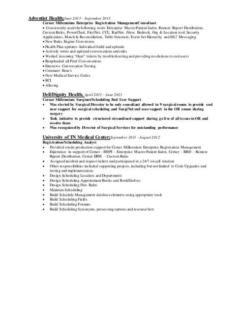 cerner resume sles cerner consultant resume resume ideas