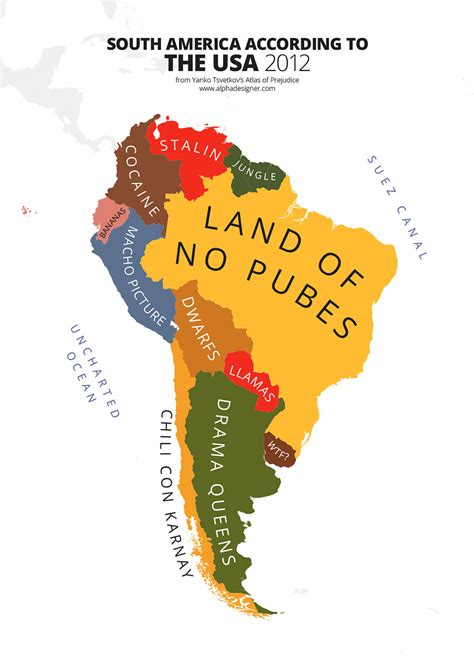 Mba In The Usa Vs South America by 31 Maps Mocking National Stereotypes Around The World
