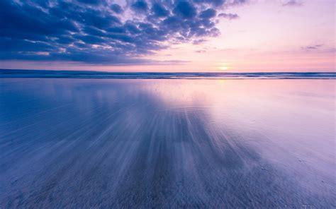 hd beach ocean sunset clouds images wallpaper