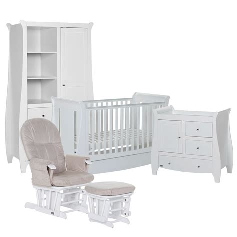 White Baby Bedroom Furniture Sets by Tutti Bambini Lucas 5 Nursery Furniture Set White